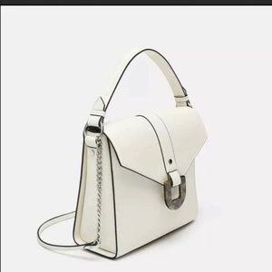Zara white handbag